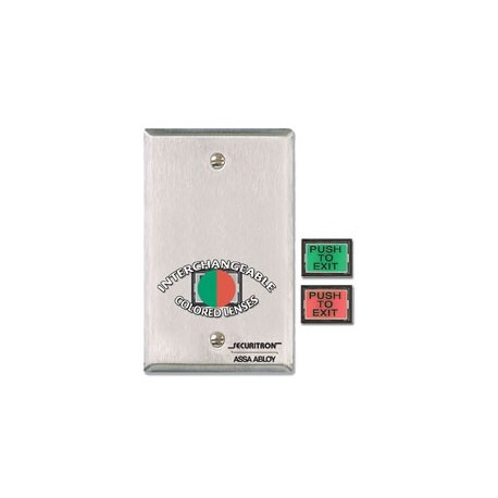 Securitron PB3 Assorted Sizes And Colors With a Uniform Lock