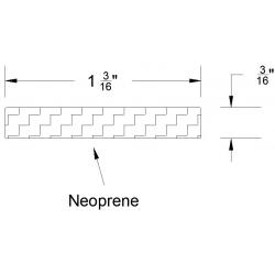 "Reese 628 Weatherstrips, Self-Adhesive, 1-3/16"" x 3/16"""
