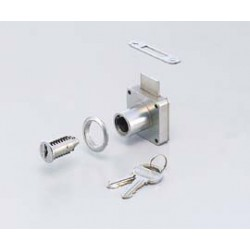 "Sugatsune 5830-24MK Interchangeable Cylinder Cabinet Lock - 24mm (15/16"") Door Thickness"