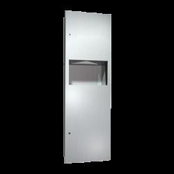 ASI 6462 Simplicity - Paper Towel Dispenser & Waste Receptacle - Multi, C-Fold - 9 gallon