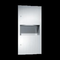 ASI 64623 Simplicity - Paper Towel Dispenser & Waste Receptacle - Multi, C-Fold - 2.2 gallon