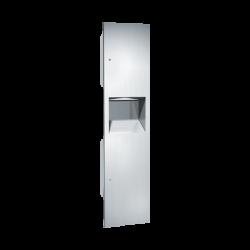 ASI 64676 Simplicity - Paper Towel Dispenser & Removable Waste Receptacle - Multi, C-Fold - 7 gallon
