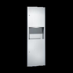 ASI 9462 Profile - Paper Towel Dispenser & Waste Receptacle - Multi, C-Fold - 9 gallon - Recessed