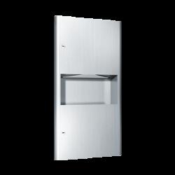 ASI 94623 Profile - Paper Towel Dispenser & Waste Receptacle - Multi, C-Fold - 2 gallon - Recessed