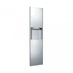 ASI 9467 Profile - Paper Towel Dispenser & Waste Receptacle - Multi, C-Fold - 4.5 gallon - Recessed