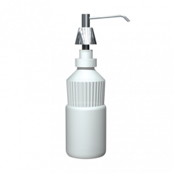 "ASI 0332-CD Lavatory Basin Liquid Soap Dispenser 6"" Spout, 4"" Shank – 20 Oz."