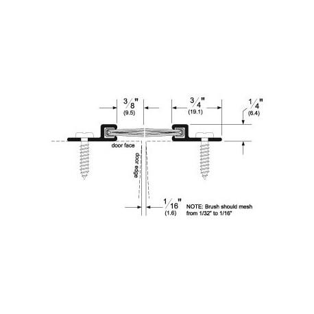 Pemko 18041DNB-36 Brush Seal Aluminum Retainer on