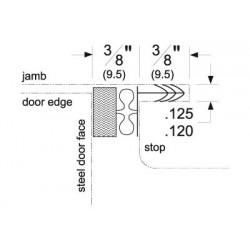 """Pemko MAG349D-85 Magnetic Kerf-In Weatherstrip, Dark, Foam with Magnetic Insert, 85"""" Long"""