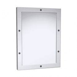 """ASI 105-14 Framed Mirror – 20 Ga. 8 Mirror Polished Stainless Steel, Front Mount, 12"""" X 16"""""""