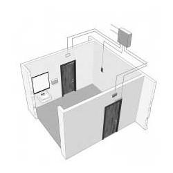 DynaLock 8500 Three-Door Communicating Bathroom System