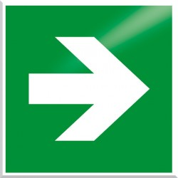 American Permalight Directional Arrow, Photoluminescent Aluminum