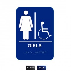 """Cal-Royal GIRH68 Girls Handicap with Braille Pictogram Text 6"""" x 8"""""""