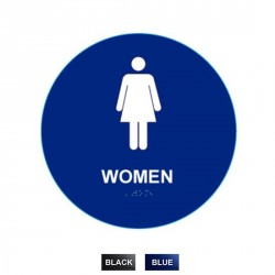 "Cal-Royal WHS-5 Women Sign Raised & Braille, 12"" Circle"