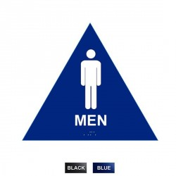 "Cal-Royal MHS-6 Men Sign Raised and Braille 10 1/2"" High Triangle"