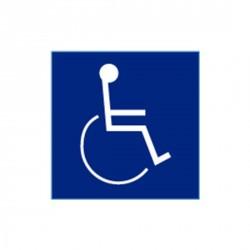 "Cal-Royal CHS-9 Blue Square Plastic Sign and Handicap Logo 8"" x 8"""
