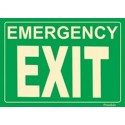 American Permalight Photoluminescent Emergency EXIT Sign