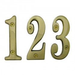 Cal-Royal SBN4 Solid Brass Numbers 0-9 4""