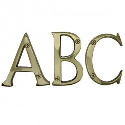 """Cal-Royal SBL4 Solid Brass Letters A-Z 4"""""""