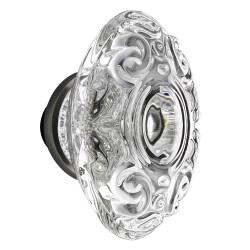 Nostalgic Warehouse Deco Plate w/ Crystal Victorian Knob