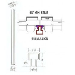 Cal-Royal 418-BRACKETS Top and Bottom Retaining Brackets for 418 Mullion