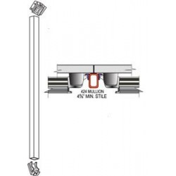 Cal-Royal VRRD10 Vertical Rod for 10' Doors Non-Fire Rated Devices