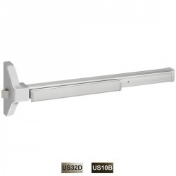 Cal-Royal GLS7700 Non-Fire Rated Narrow Stile Rim Concealed Vertical Rod Exit Device Grade 1, UL Listed for Panic & Safety Optio