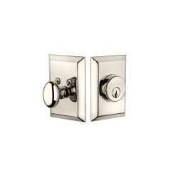 Grandeur Deadbolt w/ Fifth Avenue Plate