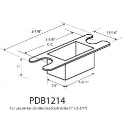 Cal-Royal PDB1214 Plastic Dust Box for Residential Deadbolt Strike