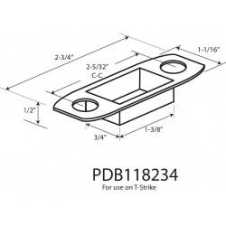 Cal-Royal PDB118234 Plastic Dust Box for T-Strike