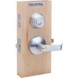 "Cal-Royal HIL Series Interconnected Entrance Lock Grade 2 Lifetime warranty 4"" CTC Bore"