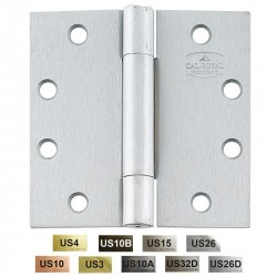 "Cal-Royal BB-2200 Full Mortise Standard Weight Concealed Ball Bearings 4 1/2"" x 4 1/2"""