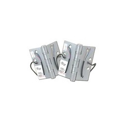 """Cal-Royal ELE8BB31 Full Mortise Standard Weight Two Ball Bearings Electrified Hinges 4 1/2"""" x 4 1/2"""" - 8 Wires"""