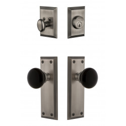 Grandeur Fifth Avenue Plate w/ Coventry Knob & Matching Deadbolt