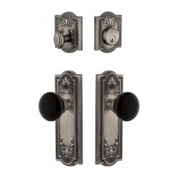 Grandeur Parthenon Plate w/ Coventry Knob & Matching Deadbolt