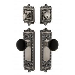 Grandeur Windsor Plate w/ Coventry Knob & Matching Deadbolt