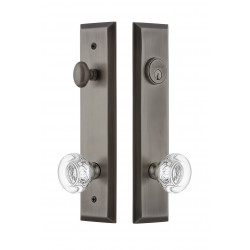 Grandeur Hardware Fifth Avenue Tall Plate Complete Entry Set w/ Bordeaux Knob