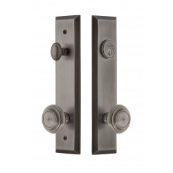 Grandeur Hardware Fifth Avenue Tall Plate Complete Entry Set w/ Circulaire Knob