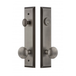 Grandeur Hardware Fifth Avenue Tall Plate Complete Entry Set w/ Fifth Avenue Knob