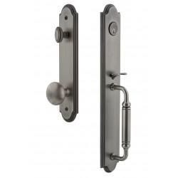 Grandeur Hardware Arc One-Piece Handleset w/ Fifth Avenue Knob