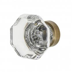 "Nostalgic Warehouse Waldorf Crystal 1 3/8"" Cabinet Knob"