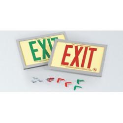 American Permalight Rigid PVC Plastic EXIT Signs Inside Aluminum Frame