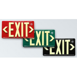 American Permalight UL924 ETL-listed EXIT Sign, Outdoor-use, 100-foot Viewing Distance