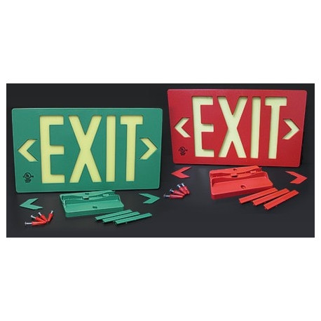 American Permalight UL924 ETL-listed EXIT Sign, Outdoor-use, 100-foot Viewing Distance LED ACTIVATION