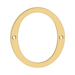 """Deltana 4"""" Numbers, Solid Brass"""