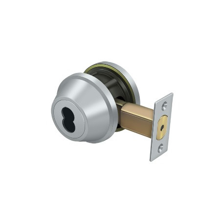 "Deltana Single Deadbolt IC Core Non CYL GR2 W/ 2-3/4"" Basket"