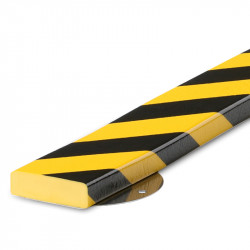American Permalight S1 Type Flat Surface Bumper, Black-Yellow