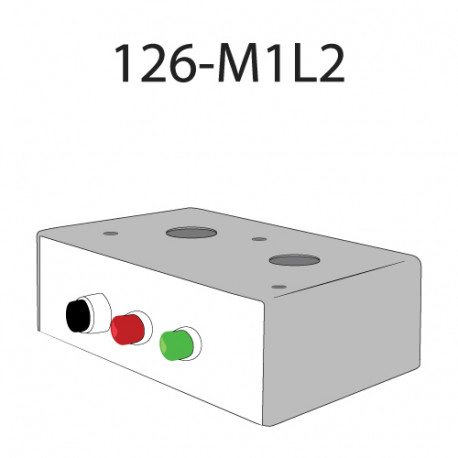 Deltrex 126-M1L2 Series Coordinated Snap-Action Momentary Push Call Button Activator with one Black, Green, and Red LED