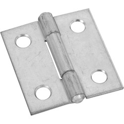 National Hardware B518 Non-Removable Pin Hinge, Zinc plated