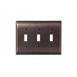 Amerock BP36502 Candler 3 Toggle Wall Plate, Oil-Rubbed Bronze Candler
