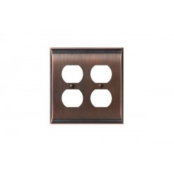 Amerock BP36509 Candler 4 Plug Outlet Wall Plate, Oil-Rubbed Bronze Candler